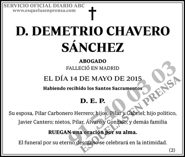 Demetrio Chavero Sánchez